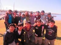 ヌーサ川で記念撮影.JPG