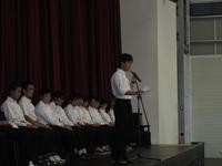 Assemblyでスピーチの取りを務めたH2S君.JPG