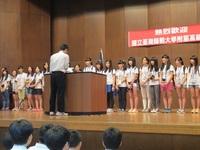 生徒会長が歓迎スピーチ.JPG
